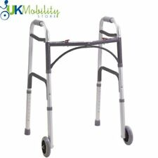 Lightweight Disability Aluminium Folding Zimmer / Walking Frame With Wheels