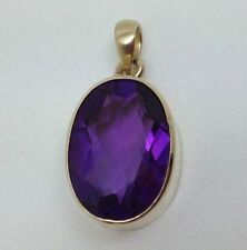 "Less than 13"" Natural Amethyst Fine Necklaces & Pendants"