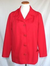 Vintage Jo Lester Jacket Medium Red Polyester 70s Shirt T16