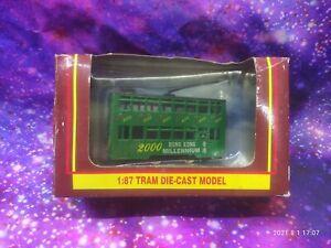 1:87 Tram Die-Cast Model, Hong Kong Millennium 2000, Damaged Box