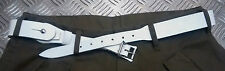 Genuine Vintage Unique Army White Leather XOX  Belt -Low Slung Hipster - NEW