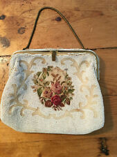 French beaded petit point small bag.