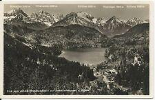 Ansichtskarte Hohenschwangau -Blick von Neuschwanstein auf Alpsee  -schwarz/weiß