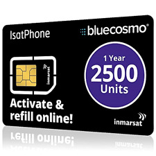 Inmarsat IsatPhone 2500 Unit Prepaid SIM Card for IsatPhone Pro Satelitephone