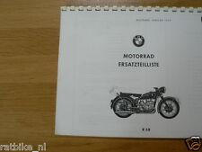 B0255 BMW---ERSATZTEILLISTE 2 ZYLINDER MASCHINEN---R68