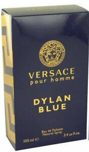 BRAND NEW SEALED 100% GENUINE VERSACE DYLAN BLUE EAU DE TOILETTE 100ML SPRAY
