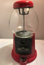 VINTAGE CAROUSEL GUMBALL CANDY MACHINE GLASS METAL