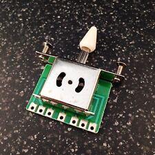 5 Way Strat interruptor de palanca-elegir Blanco O Negro punta de interruptor