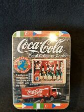Coca-Cola Coke Around The World Tin Set of 5 Metal Embossed Cards RARE MINT