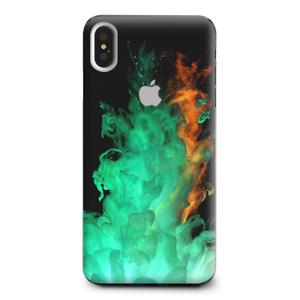 Skins Decal Wrap for Apple iPhone XS Max Orange Green Smoke
