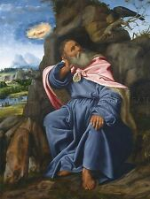 GIOVANNI GIROLAMO SAVOLDO ITALIAN ELIJAH FED RAVEN ART PAINTING POSTER BB5517A
