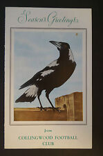 Collingwood - Vintage 1963 Collectable - Club Christmas Card -Sherrin President