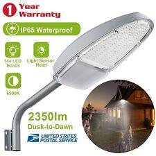 Outdoor Dusk to Dawn Sensor Led Street Light 2350Lm Security Waterproof Lighting