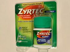 Zyrtec 24 Hour Allergy Relief 10mg Tablets - 45 Count  08/2022 Exp. Date