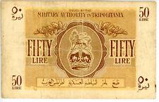 Libya ... P-M5 ... 50 Lire ... ND(1943) ... *F++* ... SCARCE