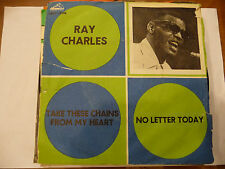 "RAY CHARLES""TAKE THESE CHAINS-disco 45 giri VOCE PADRONE Italy 1963"""