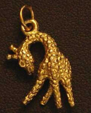 LOOK 1484 Giraffe Pendant Charm Animal Gold Plated over real sterling silver Jew