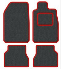 Austin Healey Velour Anthracite/Red Trim Car mat set