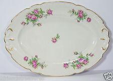 """Royal Jackson 16"""" Oval Platter Rose Floral Pattern Vogue Ceramic Industries"""