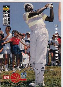 MICHAEL JORDAN Golf RARE INSERT Card AUTO SIGS Signature CHICAGO BULLS STAR