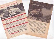Two 1960 VOLKSWAGEN BEETLE Small Format Australian Ads Readers Digest