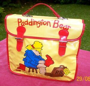 Vintage 1988 Paddington Bear Satchel - Book Bag - School Bag - Paddington