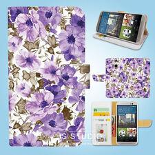 HTC One M7 M8 M9 Print Flip Wallet Case Cover Floral Pattern W034