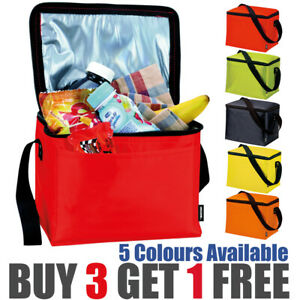 Cooler Lunch Bag Insulated  - Red, Blue, Yellow, Green, Orange - Cool Dinner Box