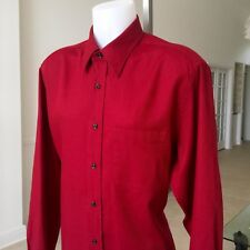 VALENTINO Roma burgundy cotton dress shirt with pocket size 17.5 Made in Italy