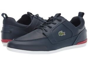 Lacoste Men's Marina Sneaker navy/red 10.5 Medium US Shoes