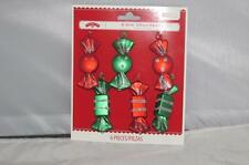 New Holiday Time 6 piece Candy Christmas Ornaments Red Green Shatterproof