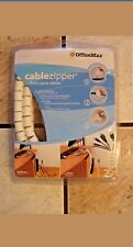 Cable Zipper Organizer OfficeMax 8' Length Incl Wall Mounts Labels Cut to Size
