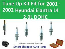 Tune Up Kit for 2001 2002 Hyundai Elantra Spark Plugs, Air Oil Filter, PCV Valve