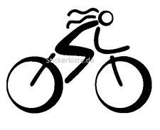 2 Aufkleber Fahrrad Girl Frau Haar Auto Sticker Decal 17 cm Tuning JDM