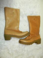 GARMONT Boots Brown Leather Tall Sherpa Fur Vanessa Women Made in Italy Size 8.5