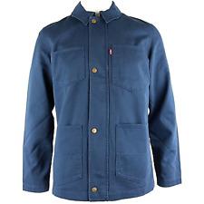 Nuevo Levi's Hombre 22517 Azul Marino Acolchado Forro Utilitario Abrochable