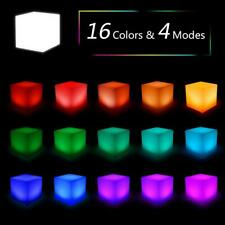 LED Cube Night Light Multi-Color USB Charging Remote Control Home Decor Gift