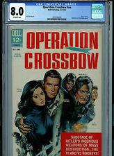 Operation Crossbow CGC 8.0 VF 1965 Movie Dell Comic Amricons K26