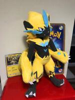 New Official Pokemon Zeraora Plush Doll Poke Toy Sun Moon 2018 TAKARA TOMY Gift