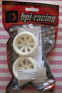 HPI RACING 3810 - VINTAGE 8 SPOKE WHEEL 31mm WHITE 6mm OFFSET - RARE - BRAND NEW