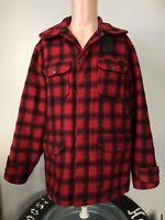 Vintage Woolrich Wool Plaid Hunting Jacket 50's Size 40/M Mackinaw