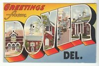 [53624] OLD LARGE LETTER POSTCARD GREETINGS FROM DOVER, DELAWARE