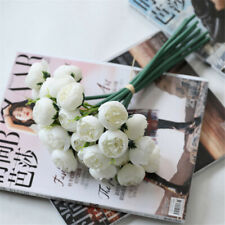 27 Heads Tea Rose Artificial Flowers Fake Bouquet Wedding Home Party Decor Prop