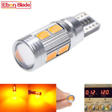 Pair 5630 10SMD Amber Yellow Orange CANBUS ERROR 501 W5W T10 194 Wedge LED bulbs