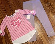 JUICY COUTURE TODDLERS/KIDS GIRLS BRAND NEW 2Pc DRESS LEGGING SET Size 4T, NWT