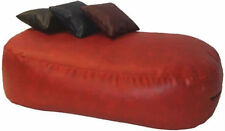 16cuf *LEATHER BEANBAG BED BEAN BAG SOFA FILLED RED
