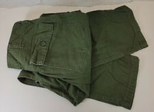 Vintage 1970s OG 107 Utility Trouser Pants US Army 34 x 29 Sateen Green B54-1369