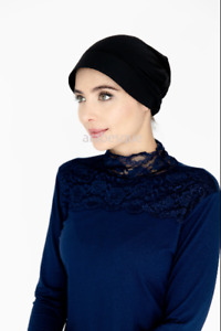 Under Scarf Bonnet/Hijab - Cap with Plastic Front Style - LYCRA
