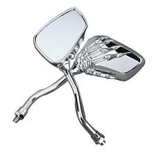 8-10mm Thread Hand Chrome SKELETON Skull Hand Claw Motorcycle Rear View Mirrors
