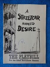 A Streetcar Named Desire - Ethel Barrymore Playbill - July 12th, 1948 - Hagen